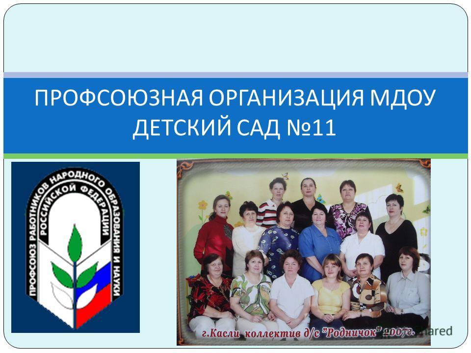 ПРОФСОЮЗНАЯ ОРГАНИЗАЦИЯ МДОУ ДЕТСКИЙ САД 11