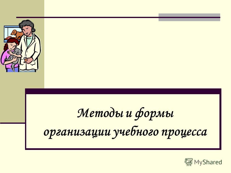 Методы и формы организации учебного процесса