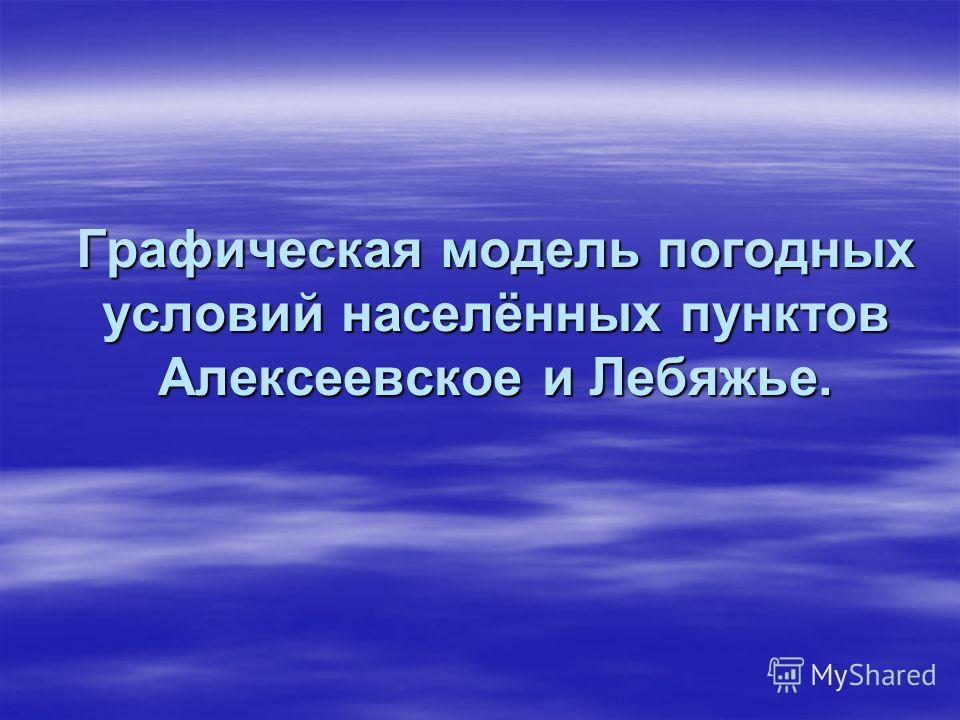 Графическая модель погодных условий населённых пунктов Алексеевское и Лебяжье.
