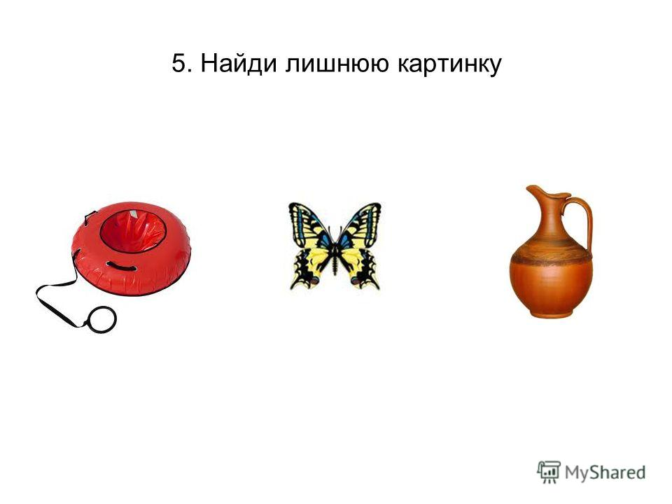 5. Найди лишнюю картинку