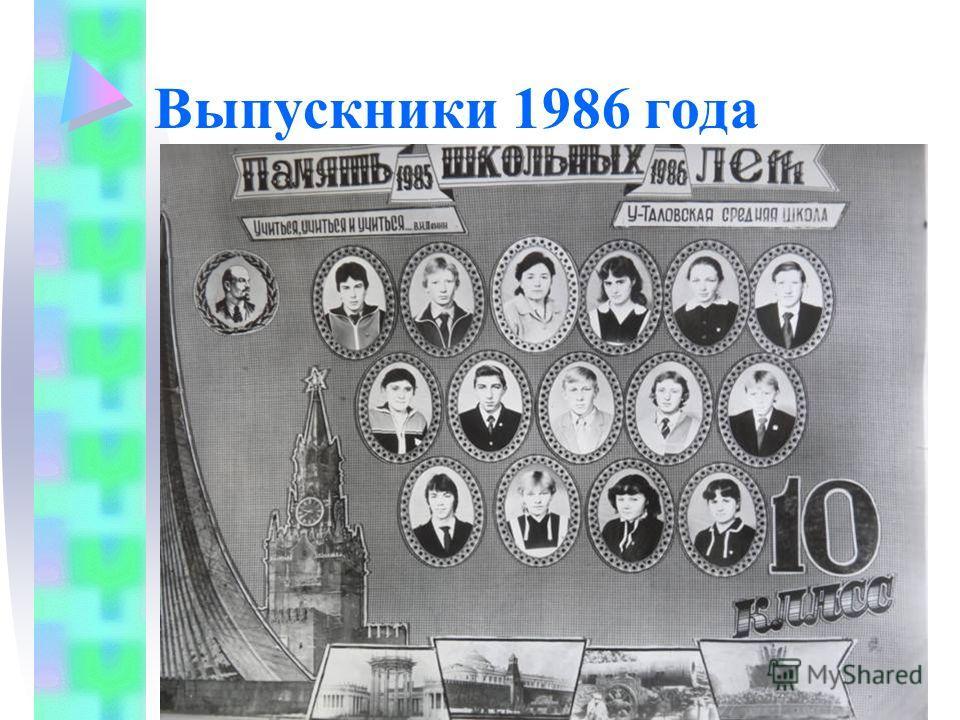 Выпускники 1986 года
