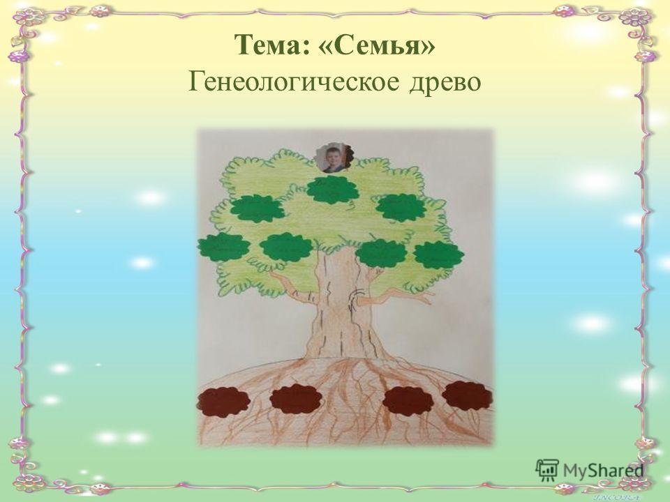 Тема: «Семья» Генеологическое древо