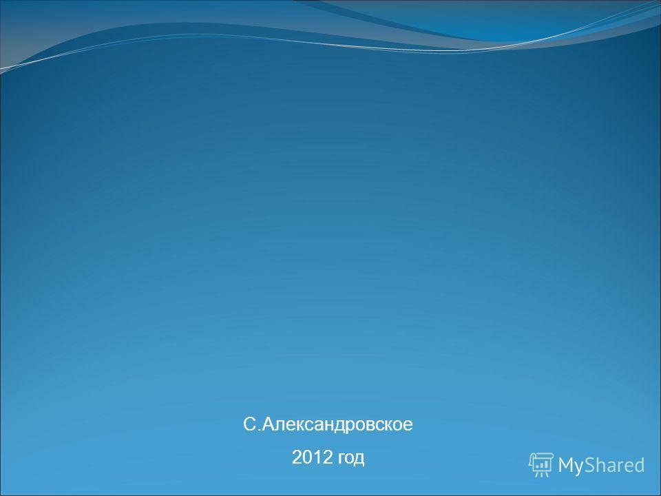 С.Александровское 2012 год