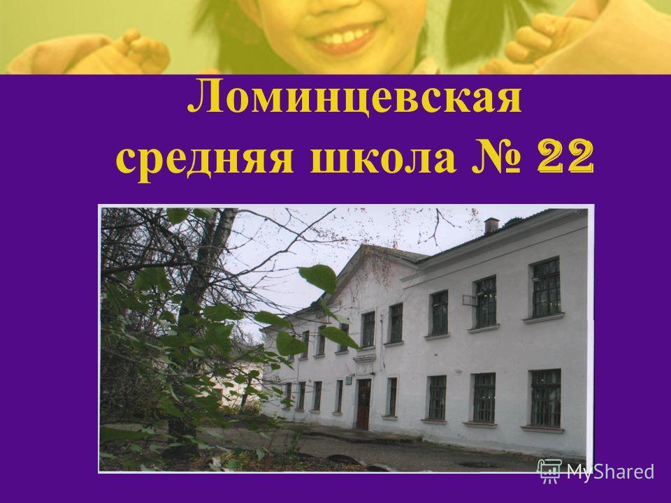 Ломинцевская средняя школа 22