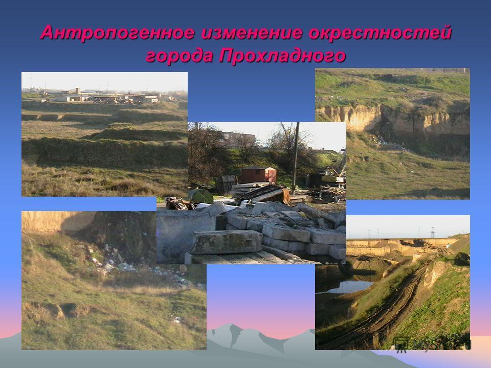Антропогенное изменение окрестностей города Прохладного