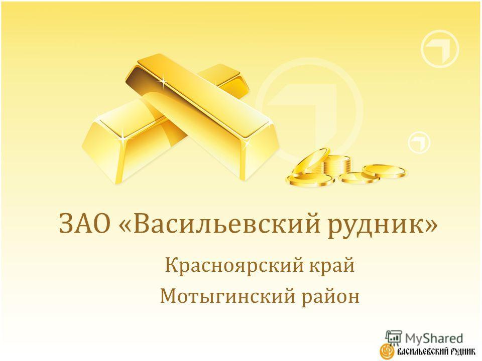 ЗАО «Васильевский рудник» Красноярский край Мотыгинский район