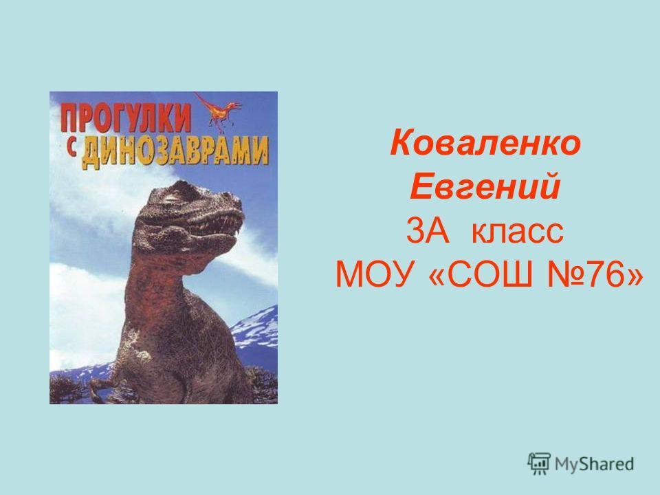 Коваленко Евгений 3А класс МОУ «СОШ 76»