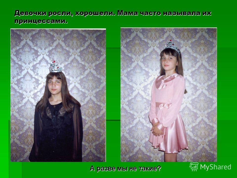 Девочки росли, хорошели. Мама часто называла их принцессами. А разве мы не такие?