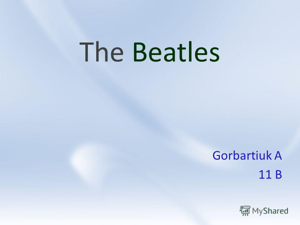 The Beatles Gorbartiuk A 11 B