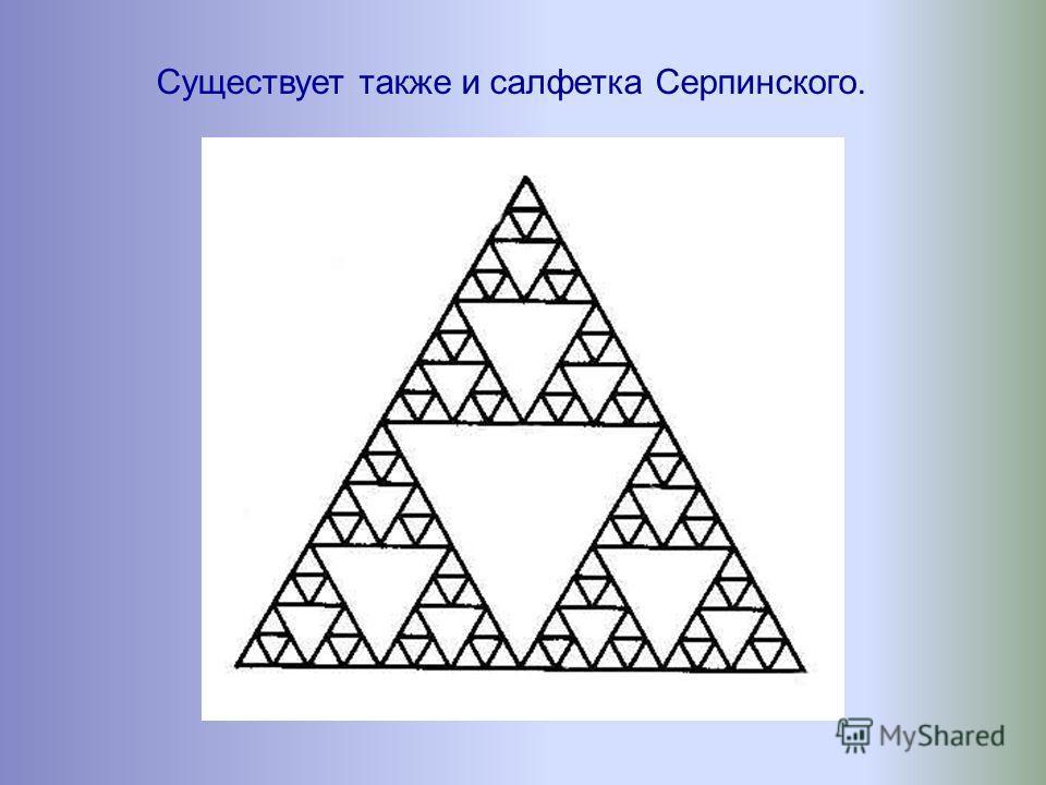 Рассмотрим автоподобную фигуру, придуманную польским математиком В. Серпинским (1882-1969) и называемую ковром Серпинского.