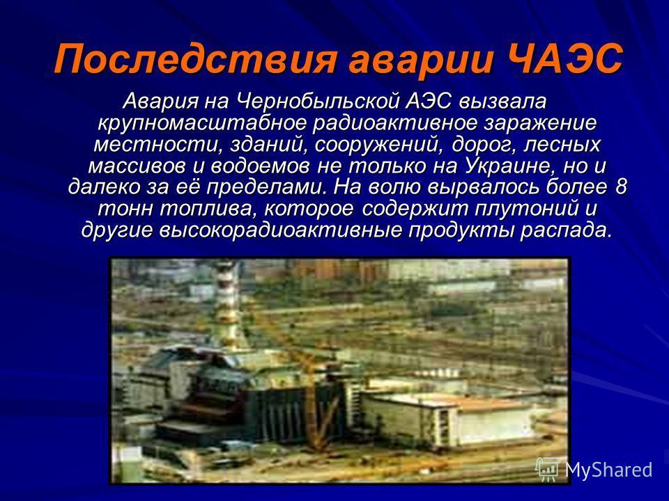 …взорвался четвертый энергоблок. В результате взрыва был разрушен реактор, значительное количество радиоактивных веществ попало в окружающую среду. Выбросы радиации равнялись взрыву 500 атомных бомб, сброшенных в 1945 году на Хиросиму. Ликвидация пос