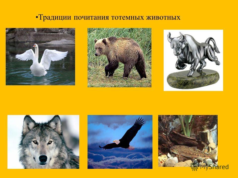 Традиции почитания тотемных животных