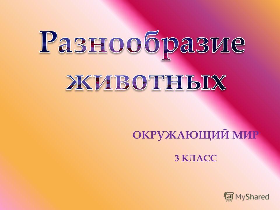 ОКРУЖАЮЩИЙ МИР 3 КЛАСС