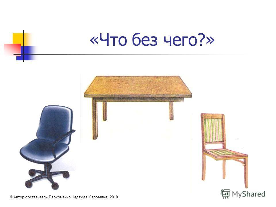 «Что без чего?» © Автор-составитель Пархоменко Надежда Сергеевна, 2010