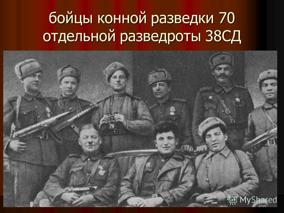 бойцы конной разведки 70 отдельной разведроты 38СД