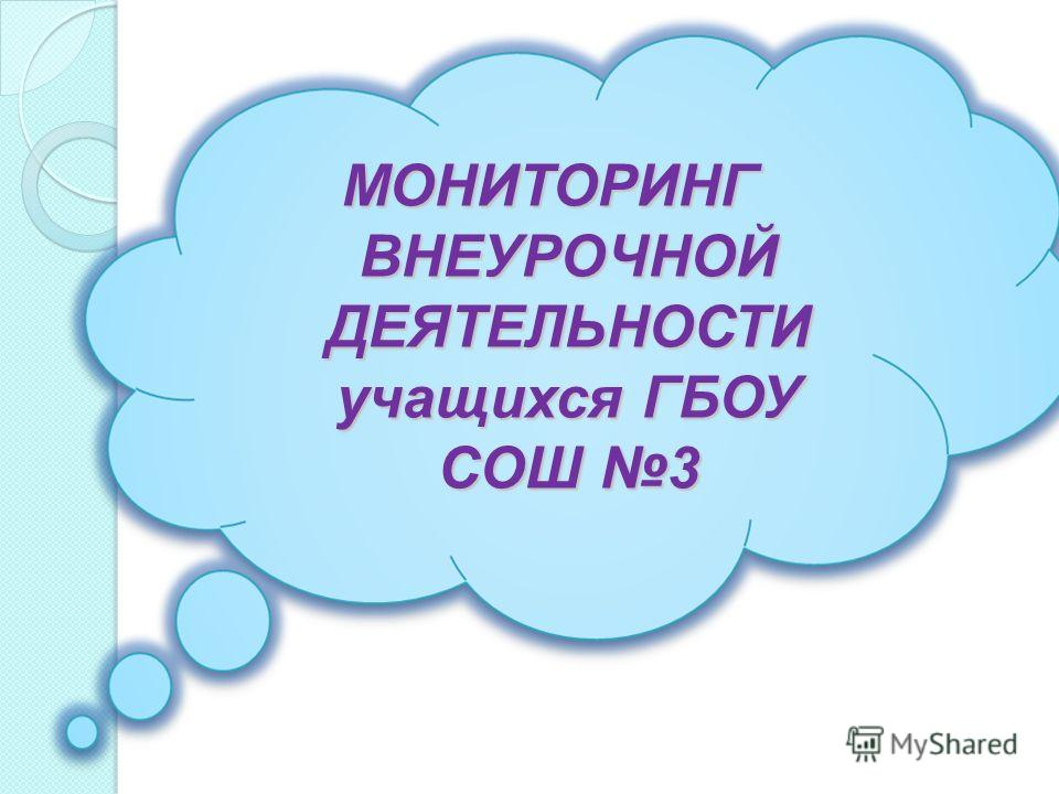 МОНИТОРИНГ ВНЕУРОЧНОЙ ДЕЯТЕЛЬНОСТИ учащихся ГБОУ СОШ 3