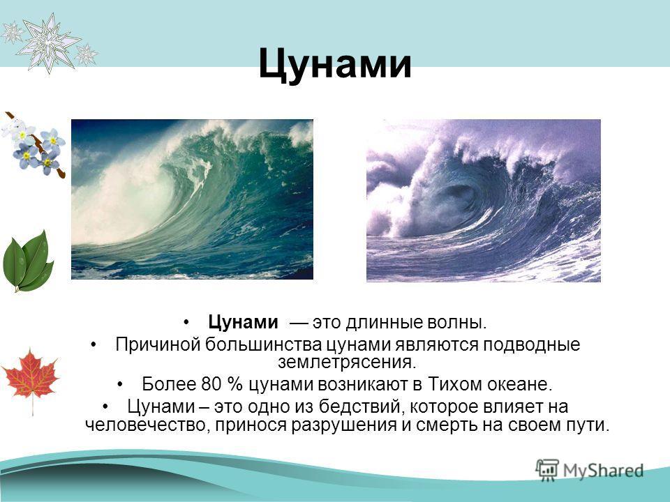 Природные явления в гидросфере