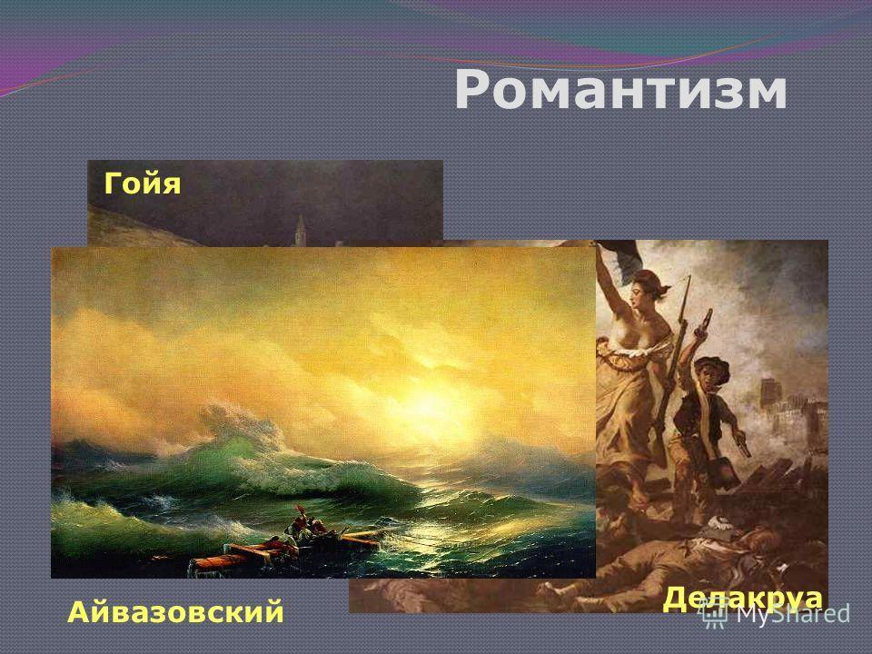 Романтизм Гойя Делакруа Айвазовский