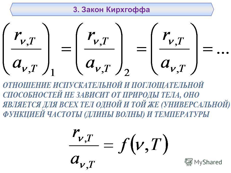 3. Закон Кирхгоффа