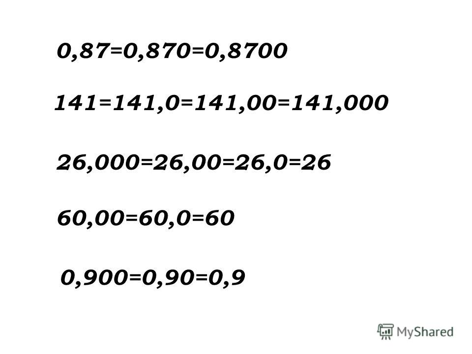 0,87=0,870=0,8700 141=141,0=141,00=141,000 26,000=26,00=26,0=26 60,00=60,0=60 0,900=0,90=0,9