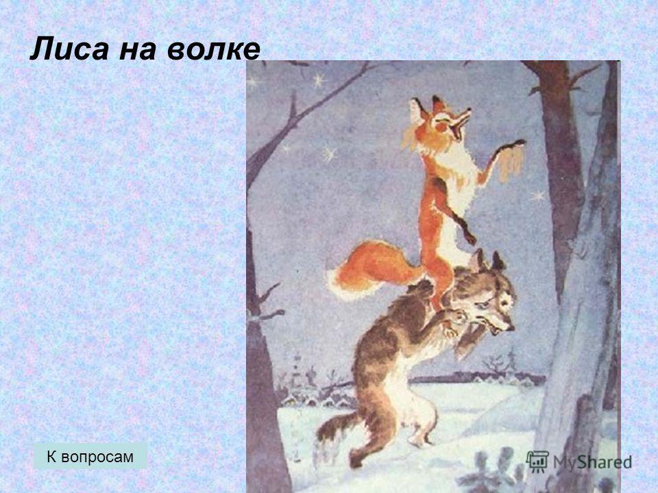 Лиса на волке К вопросам