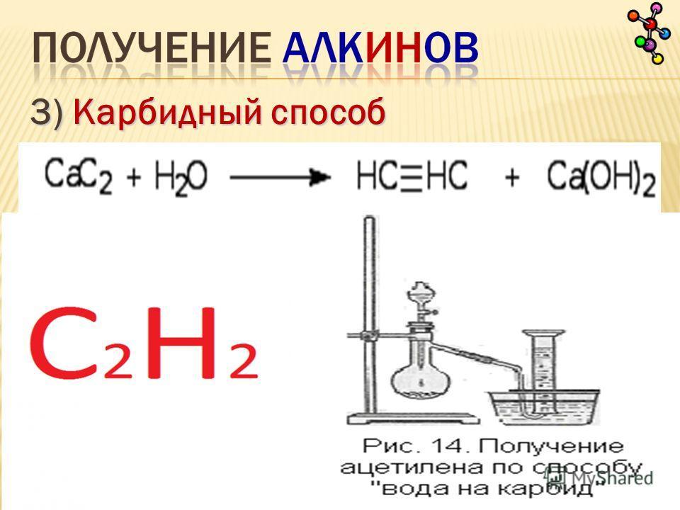 3) Карбидный способ (ацетилен)