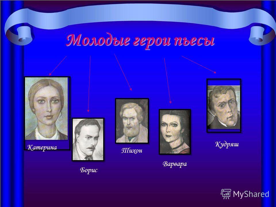 Молодые герои пьесы Катерина Борис Тихон Варвара Кудряш