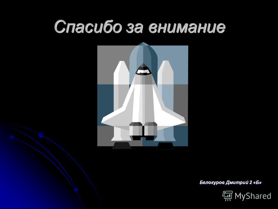 Спасибо за внимание Белокуров Дмитрий 2 «Б»