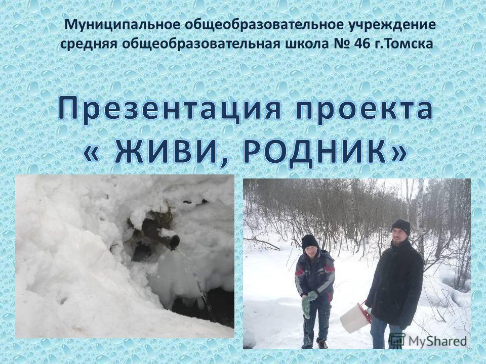 Муниципальное общеобразовательное учреждение средняя общеобразовательная школа 46 г.Томска