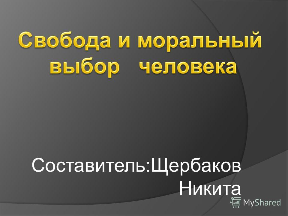 Составитель:Щербаков Никита