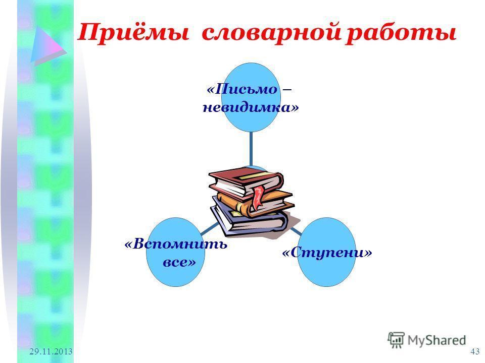 29.11.2013 43 Приёмы словарной работы