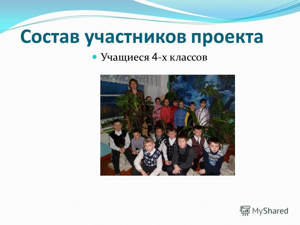 Учащиеся 4 -х классов Состав участников проекта