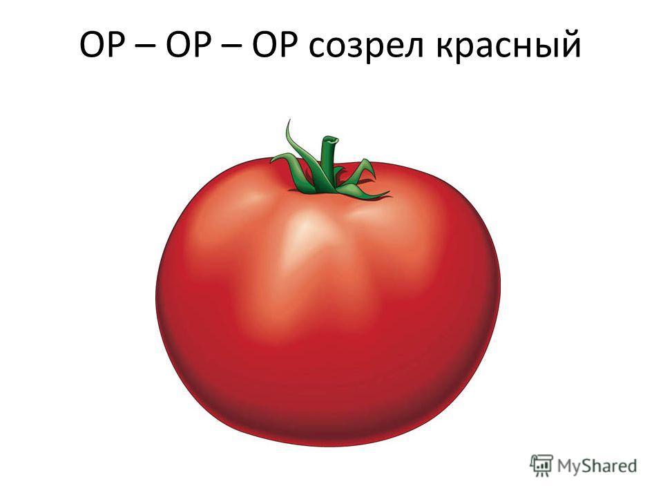 ОР – ОР – ОР созрел красный