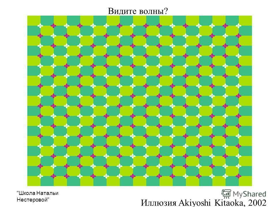 Школа Натальи Нестеровой Видите волны? Иллюзия Akiyoshi Kitaoka, 2002