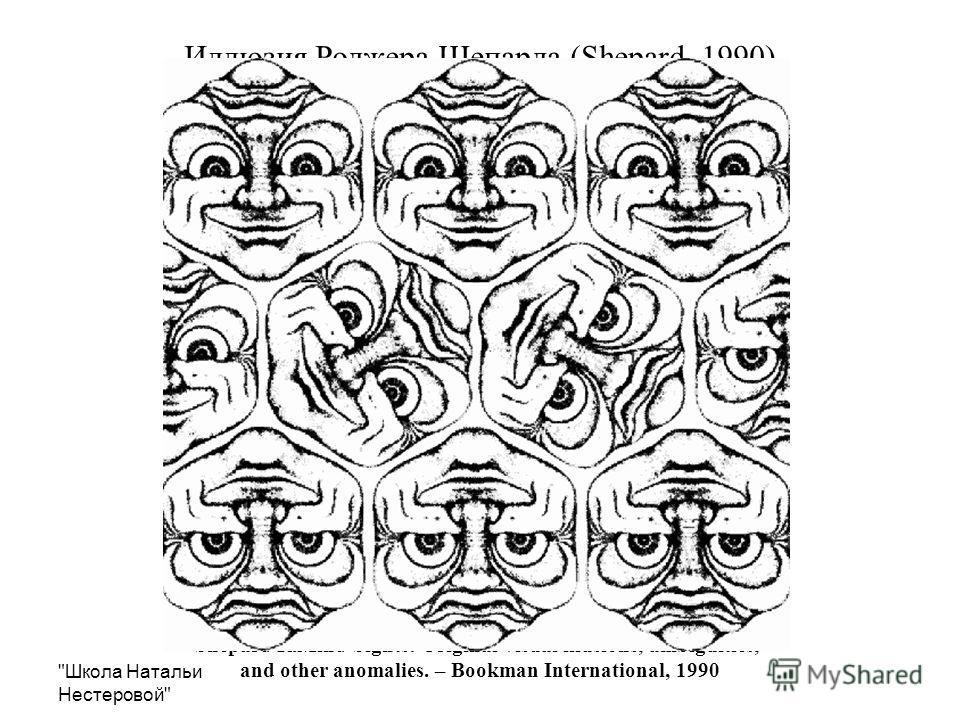 Школа Натальи Нестеровой Иллюзия Роджера Шепарда (Shepard, 1990) Shepard R.Mind Sights: Original visual illusions, ambiguities, and other anomalies. – Bookman International, 1990