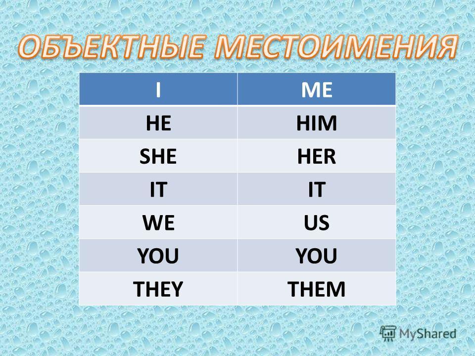 IME HEHIM SHEHER IT WEUS YOU THEYTHEM