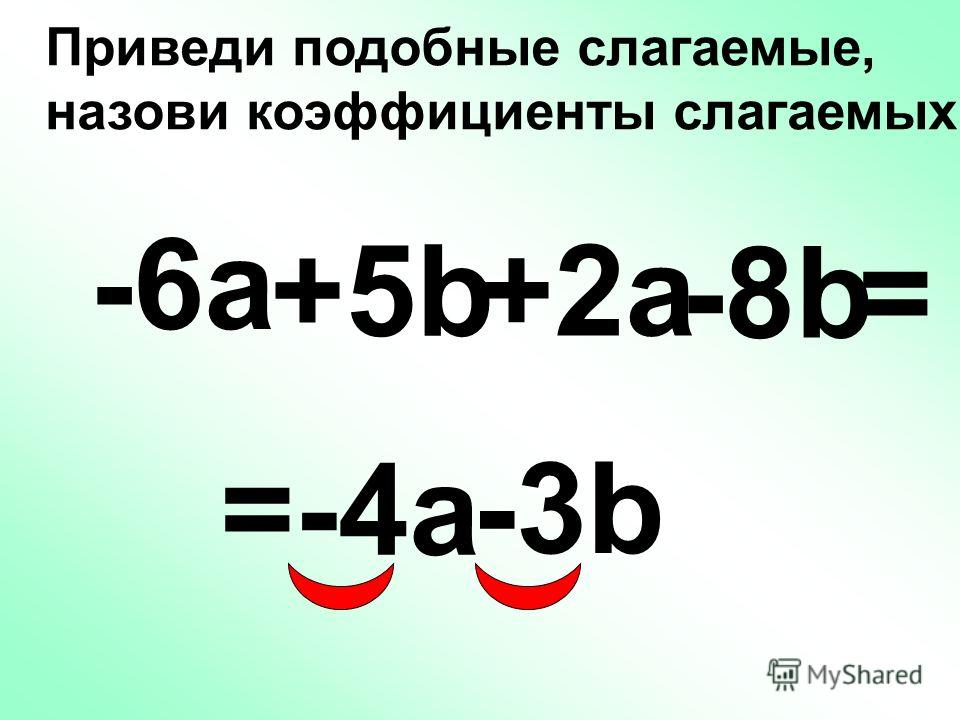 -х-х = хbcуf + (-b) (-у) (-c) f Коэффициент + 1 4 минуса – четное число