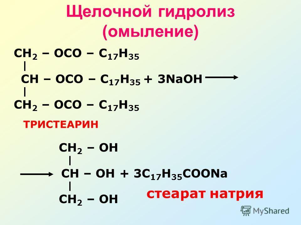 Щелочной гидролиз (омыление)
