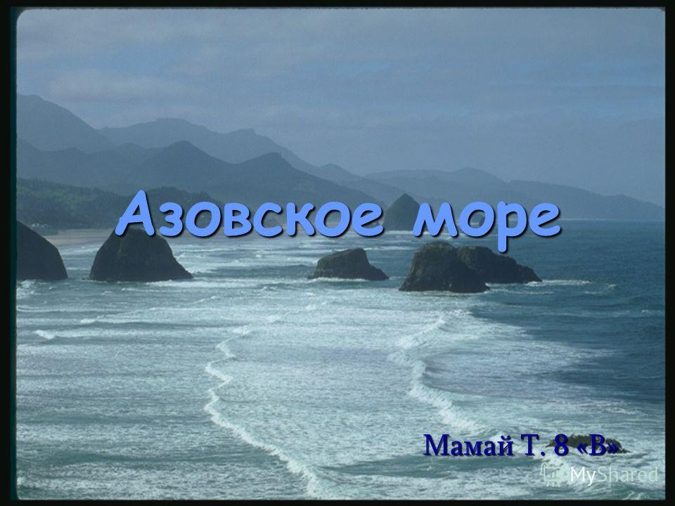 Азовское море Мамай Т. 8 «В»
