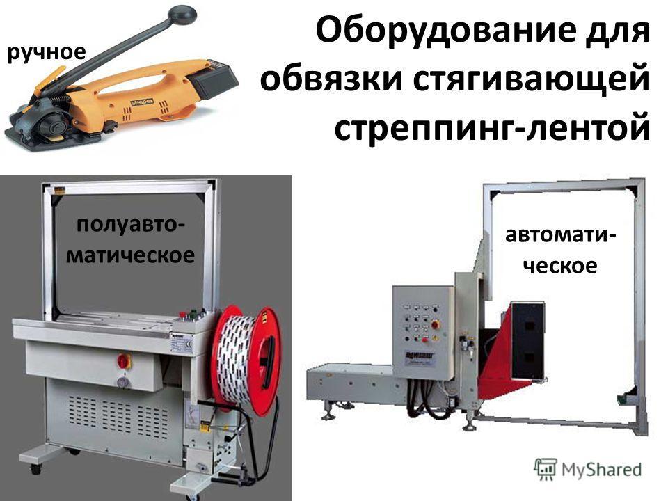 1. для предотвращения смещения и опрокидывания груза 2. для снижения габаритов продукта (картон) 3. для групповой упаковки 4. для обеспечения безопасности 5. для предотвращения рассыпания груза Оборудование для обвязки стягивающей стреппинг-лентой дл