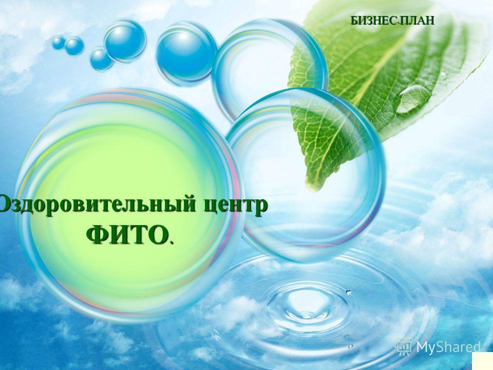 БИЗНЕС - ПЛАН Оздоровительный центр ФИТО.
