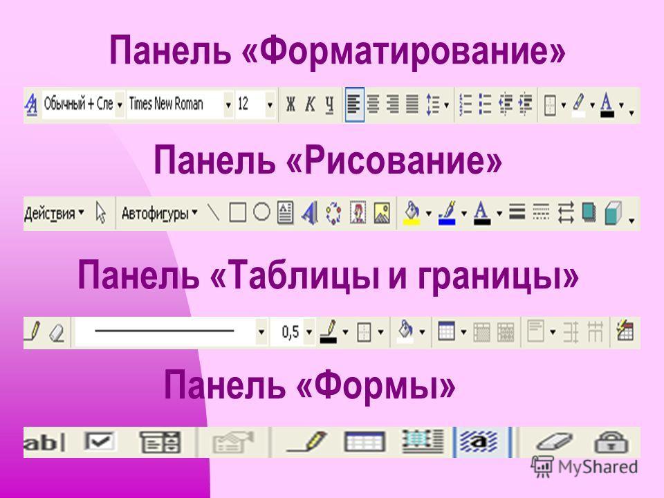 Отправить документ на печать. Предпросмотр документа перед печатью. Отмена предыдущего действия. Вернуть отмененное действие.