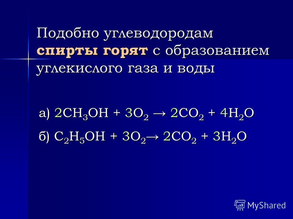 Реакции отщепления (дегидратация спиртов) б) СН 3 –СН 2 –OH + НО–СН 2 –СН 3 t,H 2 SO 4 СН 3 –СН 2 –O–СН 2 –СН 3 + Н 2 О СН 3 –СН 2 –O–СН 2 –СН 3 + Н 2 О Межмолекулярная дегидратация При этом образуются простые эфиры