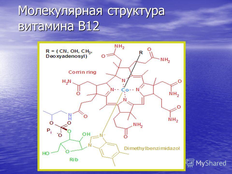 Молекулярная структура витамина В12