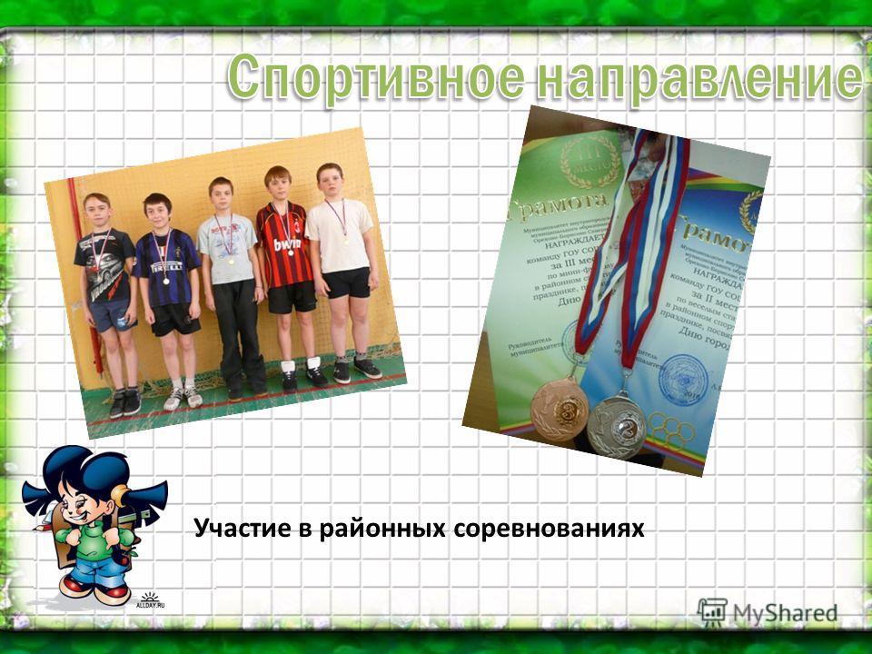 Участие в районных соревнованиях
