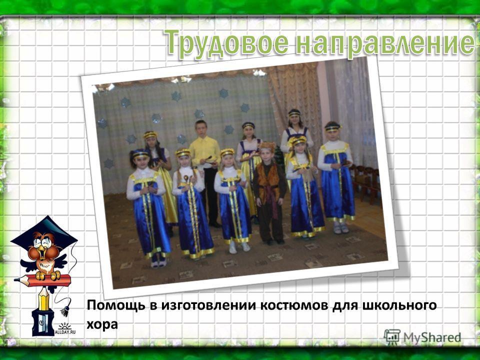 Помощь в изготовлении костюмов для школьного хора