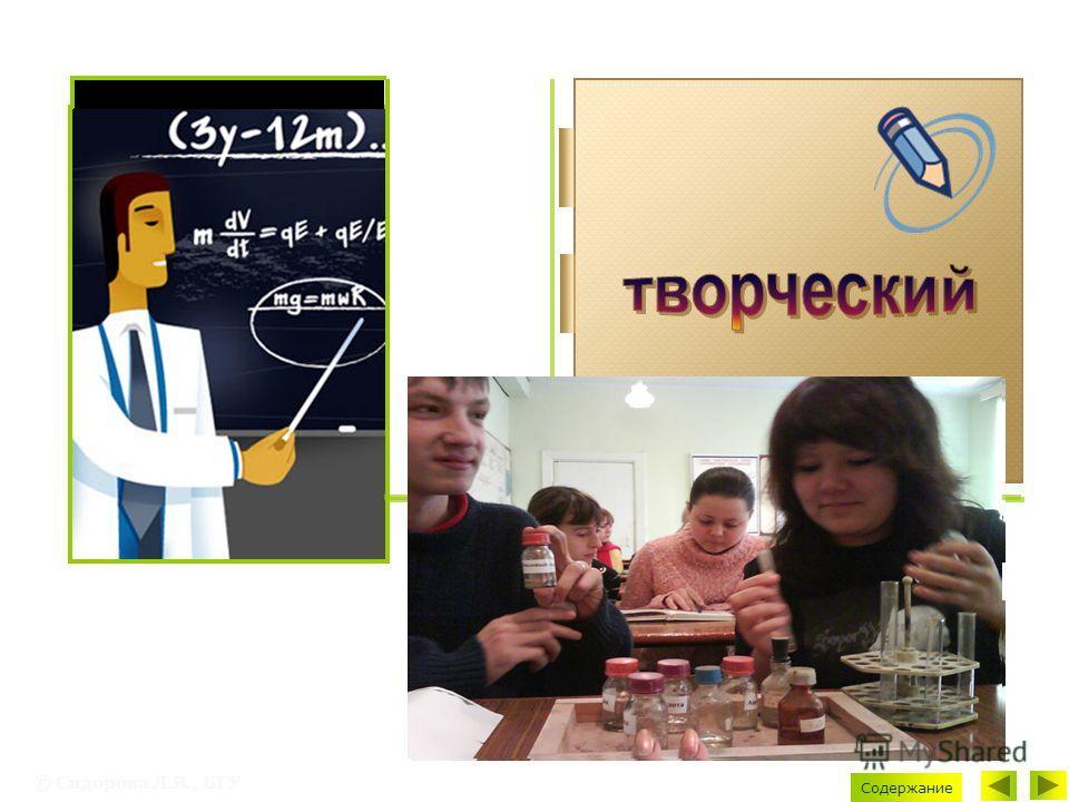 © Сидорова Л.В., БГУ Содержание