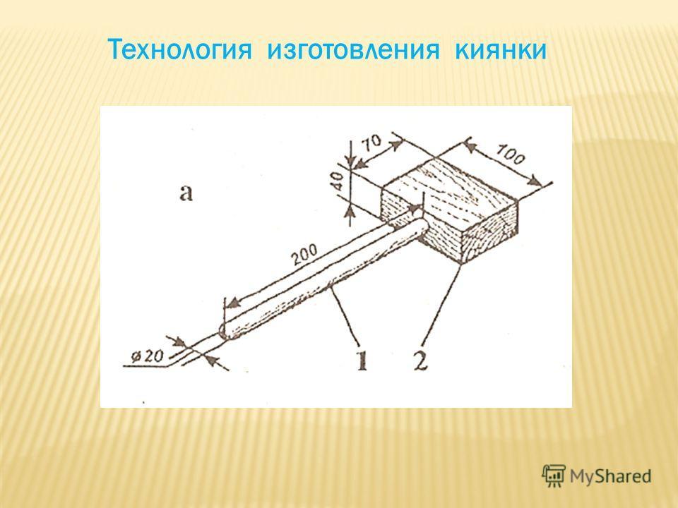 Технология изготовления киянки