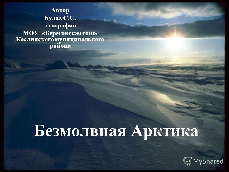 Безмолвная Арктика Автор Булах С.С. географии МОУ «Береговская сош» Каслинского муниципального района