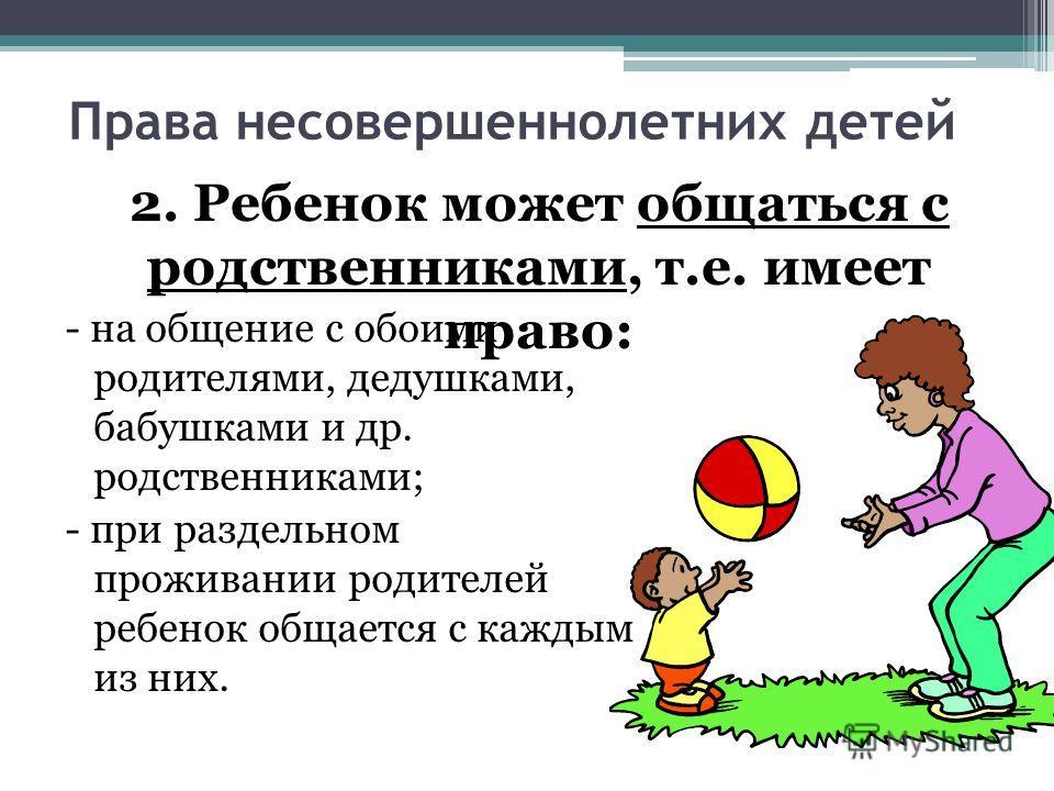 Права родителей при разводе на детей